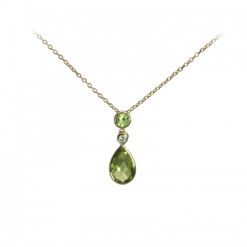 Peridot Pendant With Diamond Accents by Olivia B