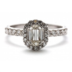 L'Amour Crisscut Diamond Engagement Ring