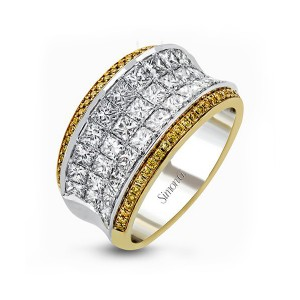 Simon G. Two Tone Diamond Anniversary Band