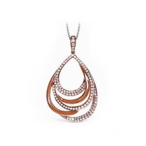 Simon G. Intertwined Diamond Pendant