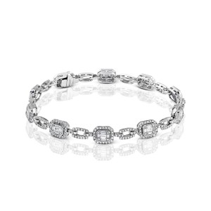 Simon G. Mosaic Style Diamond Bracelet