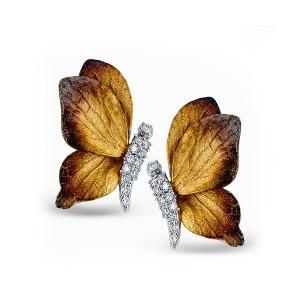 Simon G. Diamond Butterfly Earrings