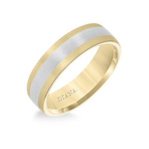 Gold Two Tone Wedding Band