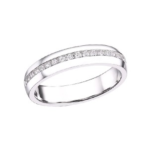 Wide Channel Set Diamond Band