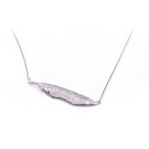 Sterling Silver Feather Pendant