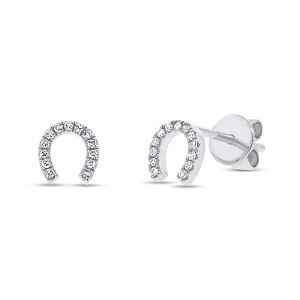 Diamond Horseshoe Earrings