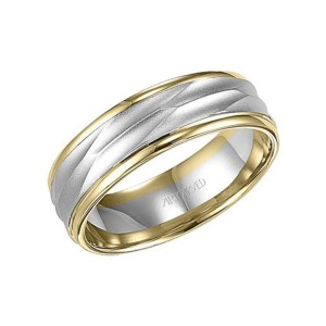 Men's Gold Engraved Wedding Band