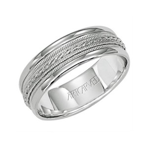 Men's Gold Detailed Wedding Band