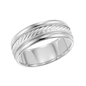 Men's Gold Rope Inlay Wedding Band