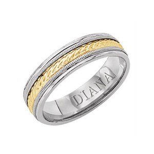 Men's Gold Two Tone Wedding Band