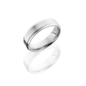 Men's Titanium 6MM Flat Grooved Wedding Band