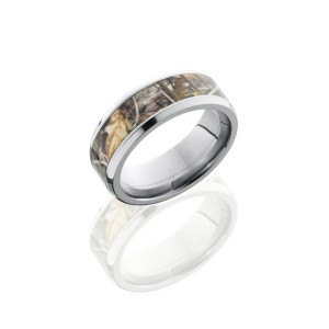 Men's Titanium Wedding Band with Camo Inlay