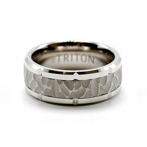Men's Tungsten Carbide Textured Wedding Band