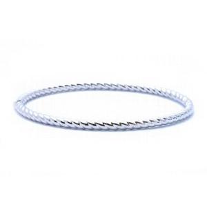 White Gold Scalloped Bracelet