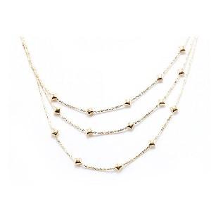 Multi Strand Gold Necklace