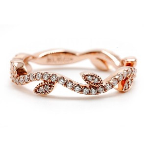 Leaf Style Diamond Band