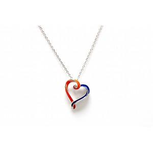 Syracuse University Inspired Heart Pendant