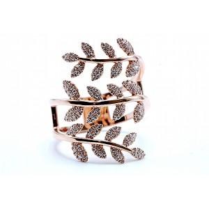 SHY Creation Diamond Leaf Design Ring