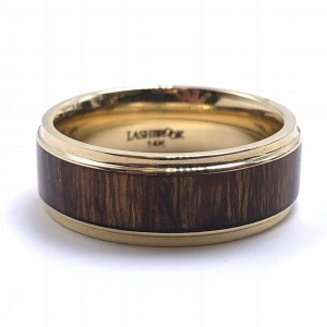 Men's Hardwood & Gold Wedding Band