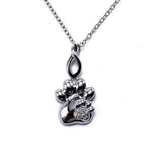Sterling Silver Dog Paw Pendant
