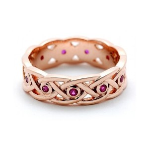 Ladies Ruby Wedding Band by Keith Jack