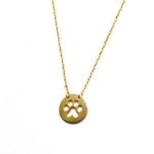 Gold Cut Out Paw Pendant