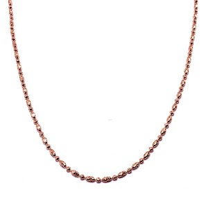 Moon Bead Gold Necklace