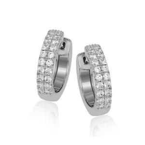 Simon G. Diamond Hoop Earrings