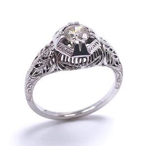 Estate Filigree Diamond Ring