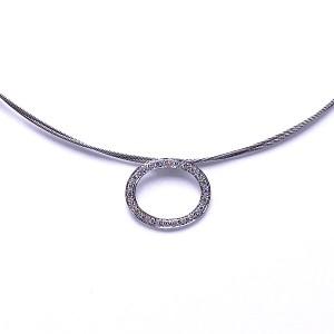 Pave Diamond Oval Pendant by ALOR