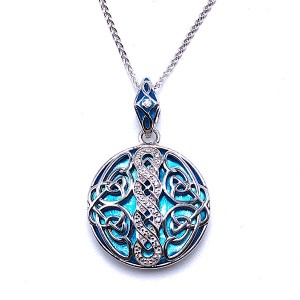 Sterling Silver Path of Life Circle Pendant by Keith Jack
