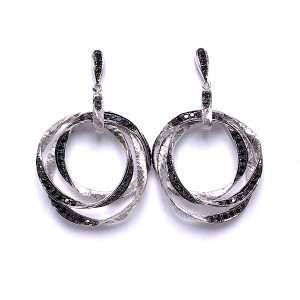 Triple Hoop Diamond Earrings