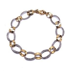 Ladies Oval Link Gold Bracelet