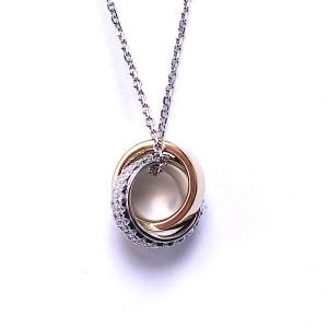 Double Ring Diamond Pendant