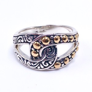 Sterling Silver & Gold Ring by Samuel B.