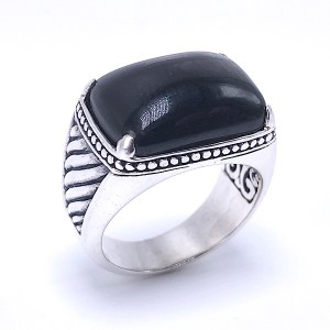 Sterling Silver Hypersthene Ring by Samuel B.