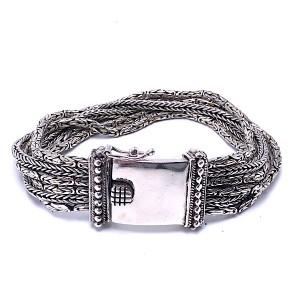 Sterling Silver 6 Strand Bracelet by Samuel B.