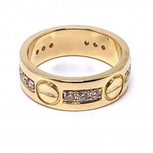 Cartier Style Diamond Ring