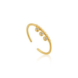 Ania Haie Yellow Shimmer Triple Stud Ring