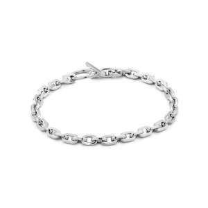Sterling Silver Chain Hook Bracelet by Ania Haie