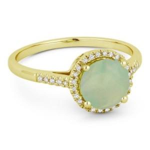 Ladies Opal & Diamond Ring