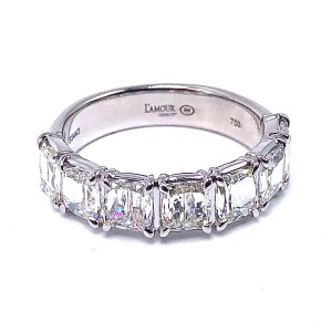 Cushion Criss Cut Diamond Wedding Ring