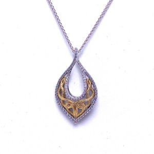 Sterling Silver Love's Chalice Pendant by Keith Jack