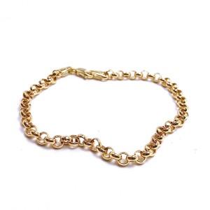 Ladies Hollow Rolo Gold Bracelet