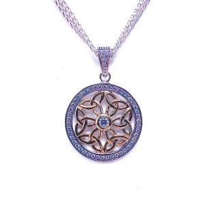 Sterling Silver Trinity Knot Pendant by Keith Jack