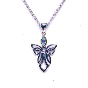 Sterling Silver Guardian Angel Pendant by Keith Jack