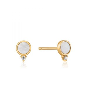 Sterling Silver Mother-of-Pearl Stud Earrings by Ania Haie