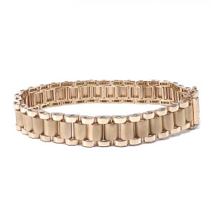 Men's Presidential Gold Link Bracelet