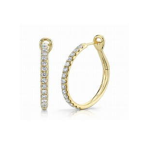 Diamond Hoop Earrings by Shy Creation