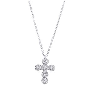 Diamond Cross Pendant by SHY Creation